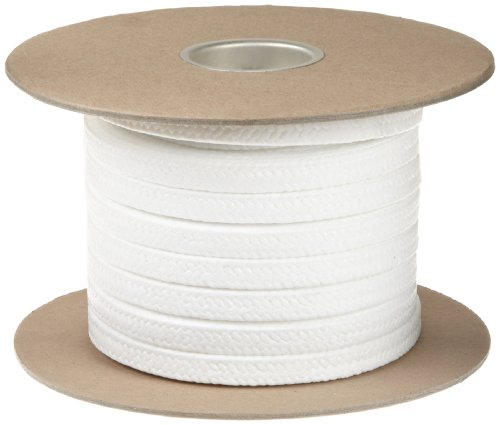 Palmetto 1367FS Series FDA Compliant PTFE Compression Packing Seal, White, 3/4'' Square, 25' Length by Palmetto Packings