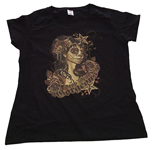 """Rockabilly T Shirt Orginal USA Motiv """"DROP DEAD GORGEOUS"""" Fun Rat Motorrad Hotrod Biker Rock'n Roll"""