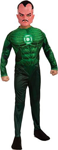 Sinestro Child Mask (Boys Green Lantern Sinestro Kids Child Fancy Dress Party Halloween Costume, M (8-10))