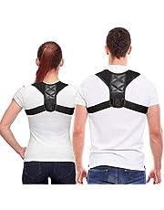 Back Posture Corrector,Back Posture Brace for Women Man,Teenager,Relief Shoulder/Back/Neck Pain,Comfortable Upper Back Brace,Clavicle Support Adjustable Brace for Kyphosis Correction