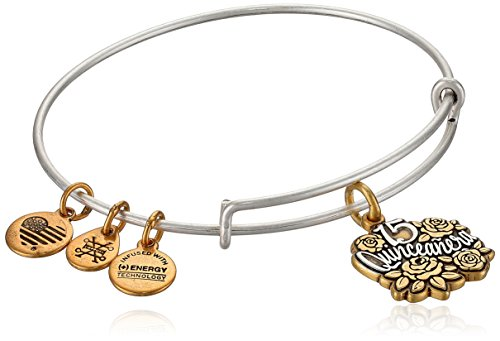 (Alex and Ani Womens Quinceanera Bangle Bracelet, Two Tone, Expandable)