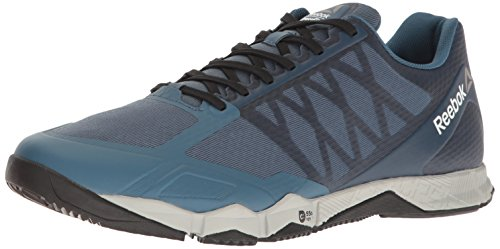 Reebok Men's Crossfit Speed TR Cross-Trainer Shoe, Brave Blue/Skull Grey/Black/White/Pewter, 12.5 M US