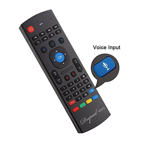 [Updated] 2.4G Air Mouse Fly Remote, Mini Wireless Air Remote Keyboard & 42 Keys Infrared Learning,Voice Input for Android Windows Smart TV box By Dupad Story
