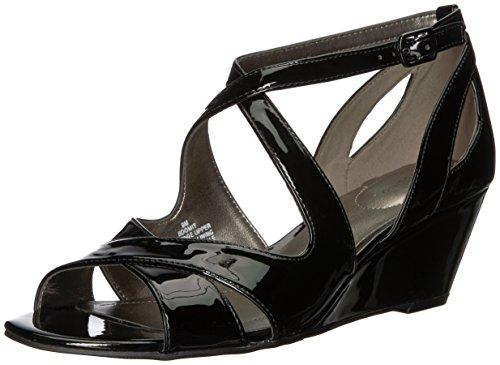 Bandolino WoMen Omit Wedge Sandal Black