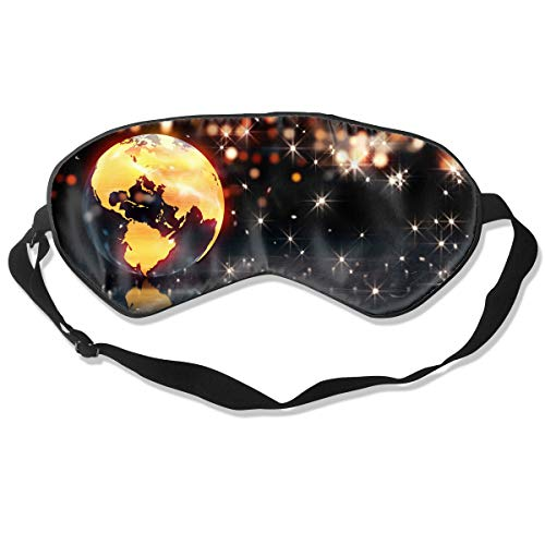 Oh-HiH 100% Silk Eye Mask Earth Loop Animation