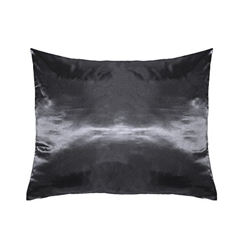 Betty Dain Satin Pillowcase, Single, Charcoal Gray