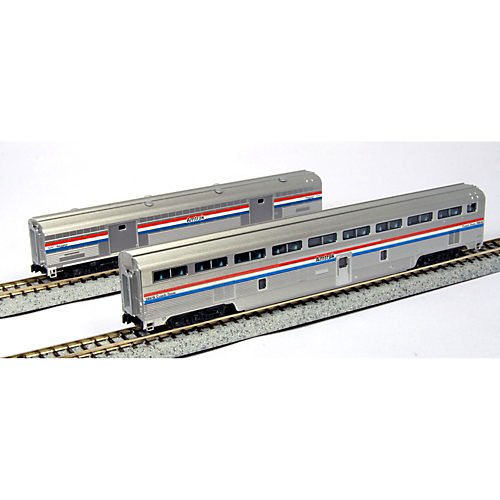 N Superliner Set, Amtrak/Phase III C (2) Kato
