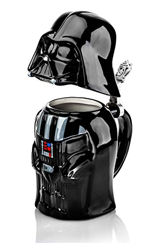 Star Wars Darth Vader Stein - Collectible 22oz Ceramic Mug with Metal...