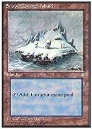 Magic The Gathering Ice Age MTG 1 x Snow-Covered Island LP