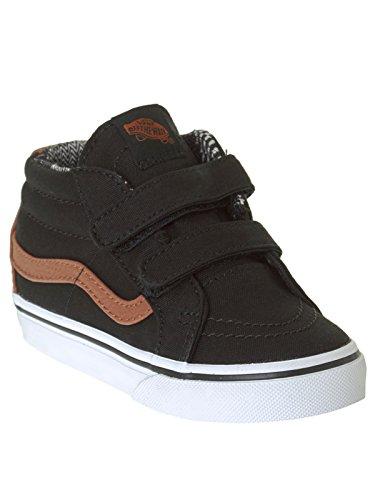 Vans Pequeños L Ninos c Negro Zapatos V Reissue eu material Sk8 material 4 Us mid 5 Negro 20 Black Mix TwFTn1