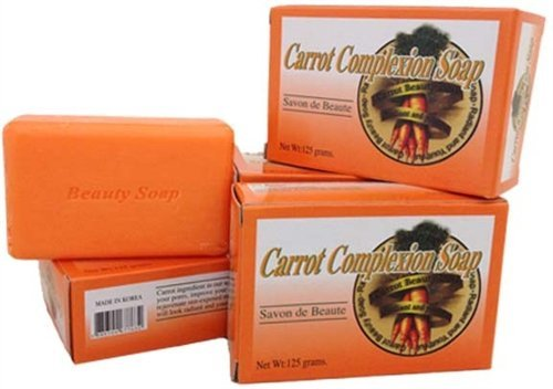 Price comparison product image Carrot Complexion Soap 4.25 oz, Unisex3-Pack ~Free Gift With Order