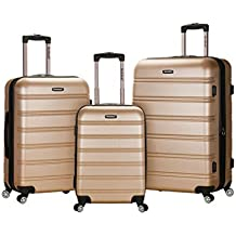 Rockland Luggage Melbourne 3 Piece Set, Champagne, One Size