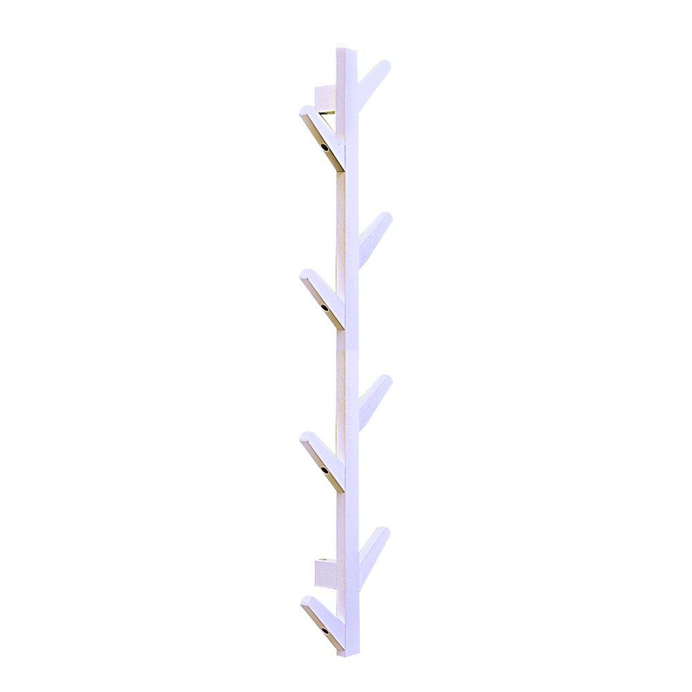 E-meta de madera árbol perchero de pared montado Hanger ...