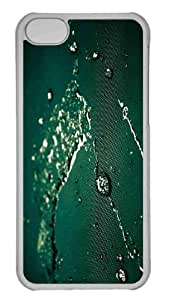LJF phone case Customized iphone 5/5s PC Transparent Case - Wet Cloth Personalized Cover