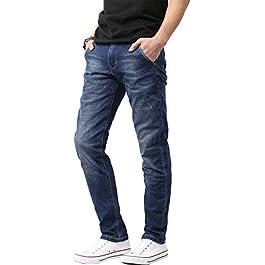 Ma Croix Mens Jeans Skinny Slim Fit Stretch Denim Long Pants