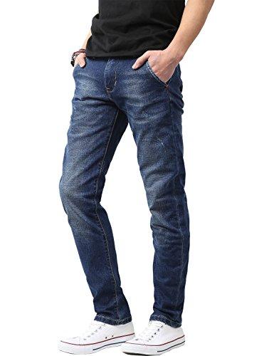 Ma Croix Nr Mens Designer Skinny Jeans (40X32/R715_Blue)