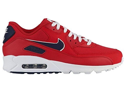 Nike Men's Air Max 90 Essential Trainers Rot (University Red/Blackened Blue-white 601) hu8VW