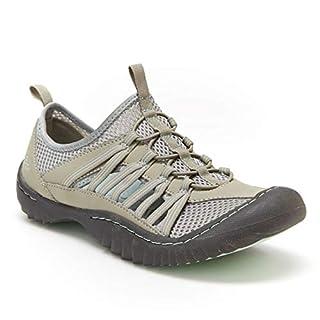 JBU by Jambu Women's JBU Evergreen Sneaker, Light Grey/Aqua, 6.5 Medium US