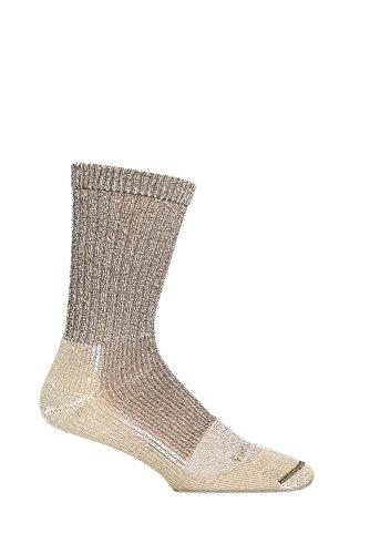 Farm to Feet Men's Boulder Lightweight Hiking Socks, Brown, X-Large