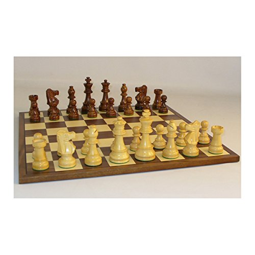 35-inch Sheesham French Chess Set with Walnut - Chess French Pieces Knight