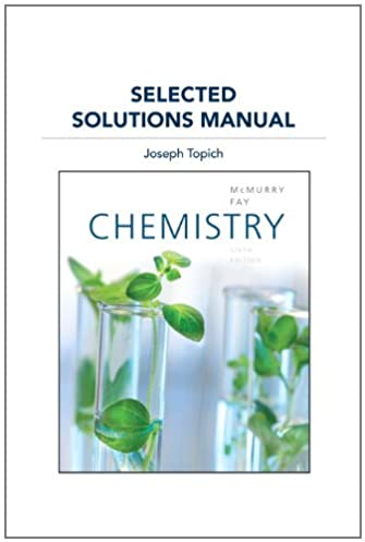 selected solutions manual for chemistry john e mcmurry robert c rh amazon com Physics Solutions Manual Test Bank Solutions Manual