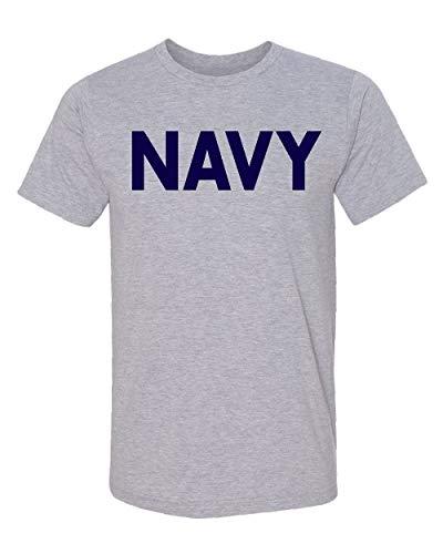 Promotion & Beyond Military Gear Navy Training PT Men's T-Shirt, S, H. Grey
