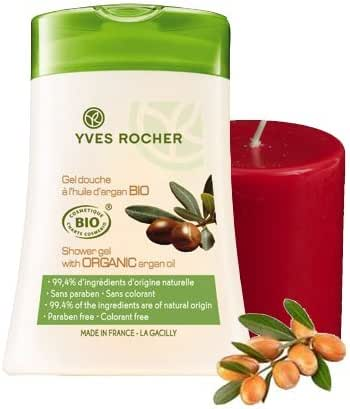 Yves Rocher BIO Organic Argan Oil 2-piece Bath/Shower Gift Set. Imported from France