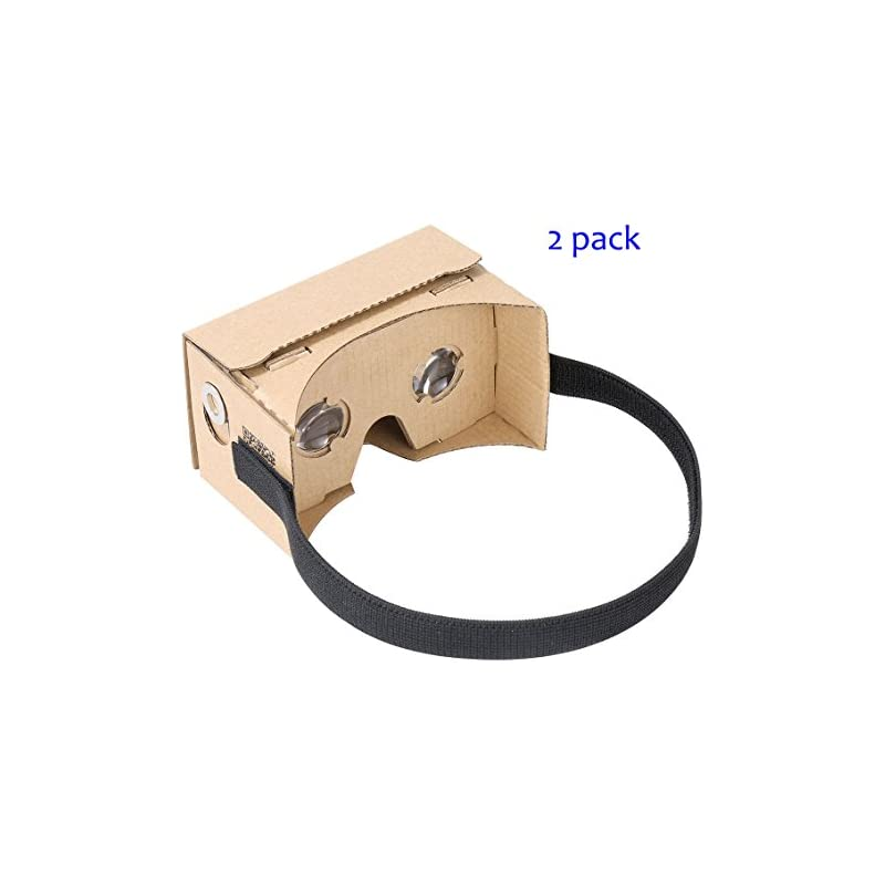 Google Cardboard by IHUAQI 2 Pack with H