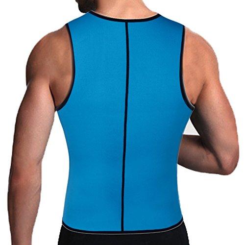 Mens Slimming Body Shaper Vests Shirt Abdomen Slim Sauna Tank Top Vest with Zip