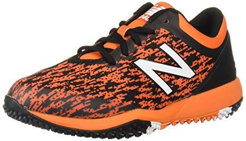 New Balance Men's 4040v5 Turf Baseball Shoe, Black/Orange, 12 M US