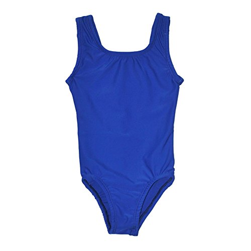 Big Girls Royal Blue Full Front Lining Tank Dancewear Leotard 14