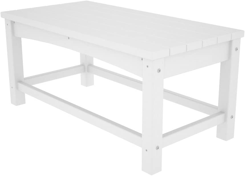 Polywood CLT1836WH Club Coffee Table White