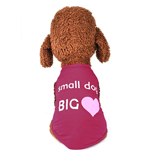 Gogoodgo Pet Shirt, Soft Puppy Pet Vest Summer Sweatshirt Printed Dog Clothes Cute T Shirt for Dog