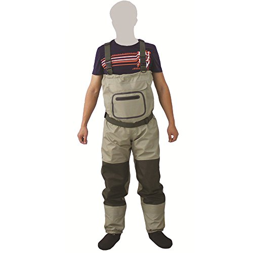 Kylebooker Fly Fishing StockingFoot Chest Waders Affordable Breathable Waterproof Chest Waders Trousers KB002 by Kylebooker