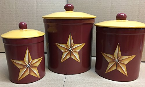 Texas Barn Star Italian Stoneware Canister Set