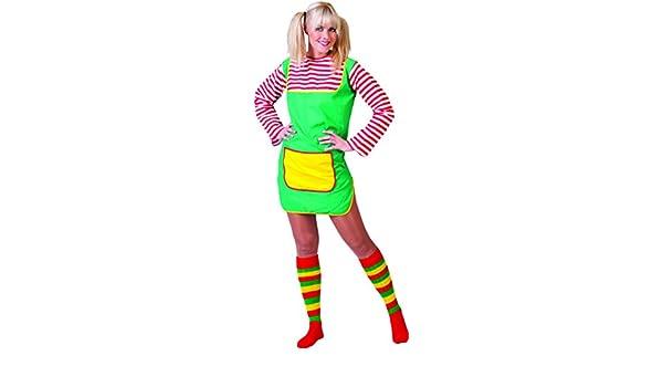 Zauberclown mágica payaso Pipi Calzaslargas Disfraz Para Mujer, L, multicolor: Amazon.es: Juguetes y juegos