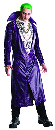 [Rubie's Men's Suicide Squad Deluxe Joker Costume, Multi, X-Large] (The Joker Masquerade Costume)
