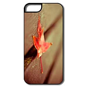 Cartoon Red Leaf Down IPhone 5/5s Case For Family