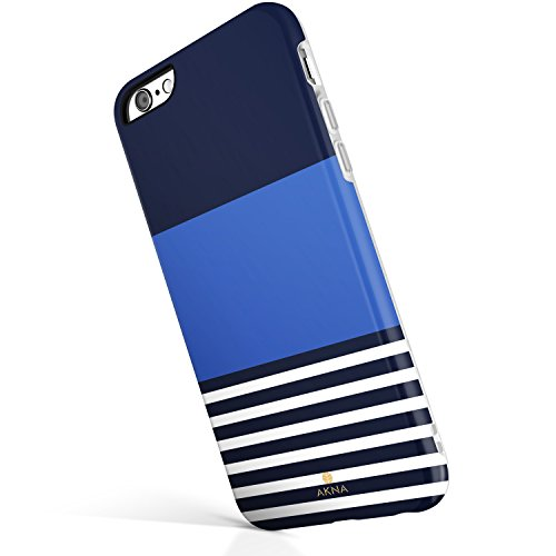 iPhone 6 Plus/iPhone 6s Plus case, Stripe Pattern, Akna Hard Silicon Back Cover for Girls (55-U.S)