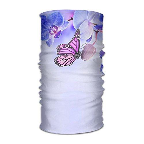 (Butterfly Butterflies Orchid Flowers Headband Bandana,Outdoor Multifunctional Headwear,Magic Scarf For Men Women)
