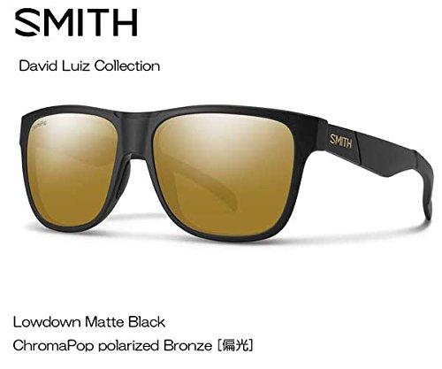 SMITH(スミス) David Luiz Lowdown 【フレーム】MATTE BLACK 【レンズ】CP-POLAR BRONZE 020440142   B073RYSDV5