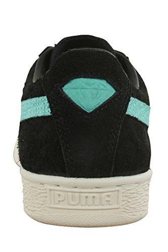 Puma Heren Suede Diamant Puma Zwart / Blauwe Diamant