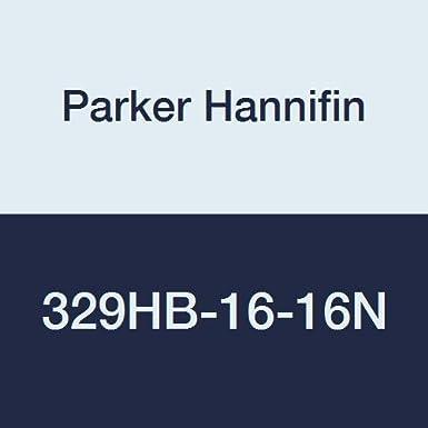 White 90 Degree Angle Parker Hannifin 329HB-16-16N Par-Barb Nylon Male Elbow Fitting 1 Hose Barb x 1 Male NPT