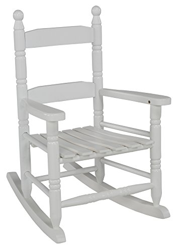 Jack-Post KN-10W Classic Child's Porch Rocker White (White Garden Rocker)
