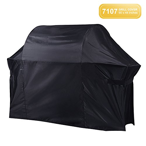 Gas Grill Cover 7107, BBQ Cover, 60-Inch Heavy-Duty, Waterproof & Weather Resistant Apply to Weber Genesis & Spirit Series Outdoor Barbeque Grill