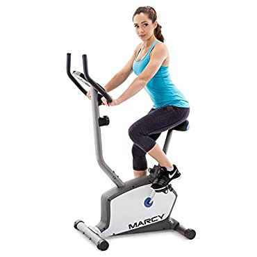 Marcy Magnetic Upright Magnetic Bike with 8 Level of Resistance and LCD Monitor NS-1201U