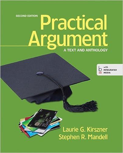 practical argument kirszner 2nd edition