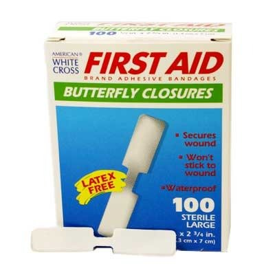 60333 Bandage Butterfly Wound Plastic Large 100 Per Box Part No. 60333 by- Medique Pharmaceuticals