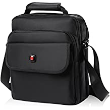 """Soperwillton Vertical Shoulder Messenger Bag for iPad, Tablet and Laptop Upto 14"""""""