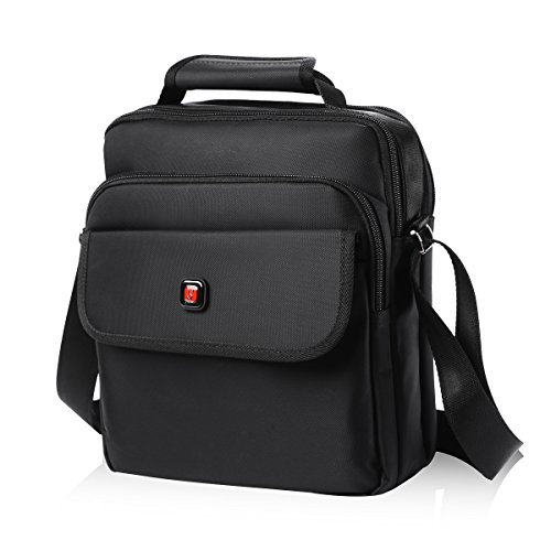 - Soperwillton Vertical Shoulder Messenger Bag for iPad, Tablet and Laptop Upto 12